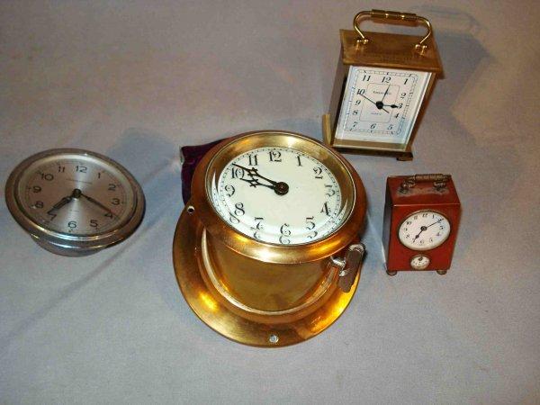 14: Assorted  clocks including two car clocks