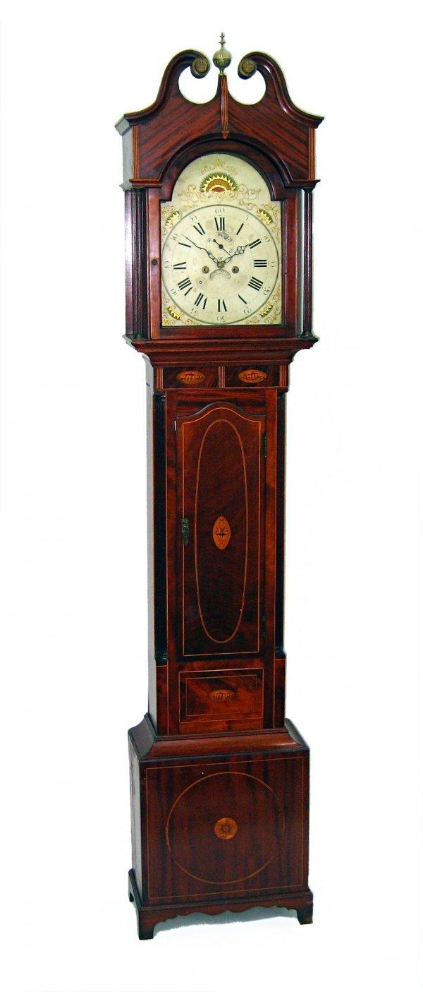 155: Fine Federal American Tall case clock