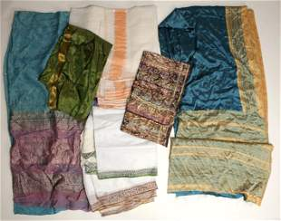 VINTAGE SARI FABRIC COLLECTED IN RAJASTHAN INDIA
