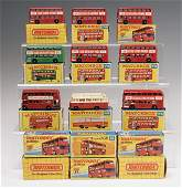 LOT OF MATCHBOX BUSES & CARS IN BOX