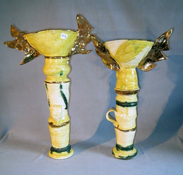 13: Pottery Candlesticks by Susan Rowland