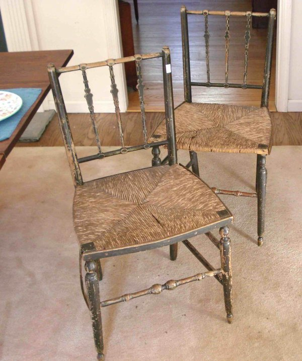 6: Early American Cane chairs