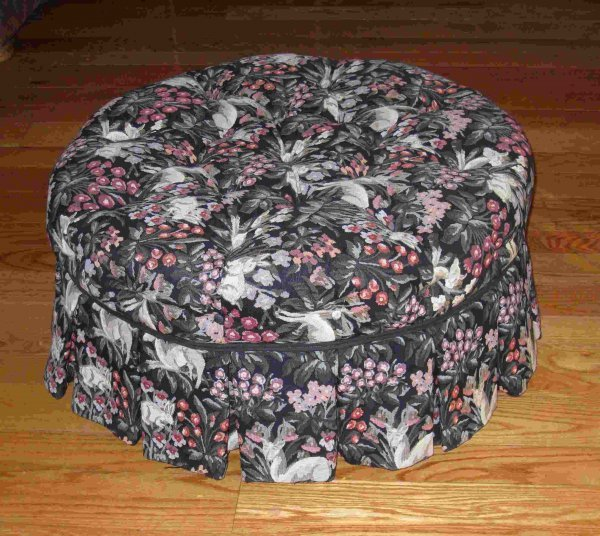 17A: Larger upholstered ottoman or pouf