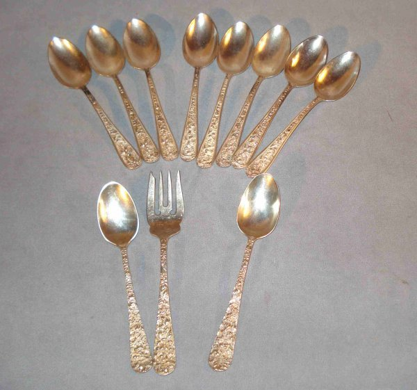 21: Assorted silver ware