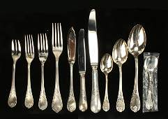 144 PIECES CHRISTOFLE MARLY SILVERPLATE FLATWARE
