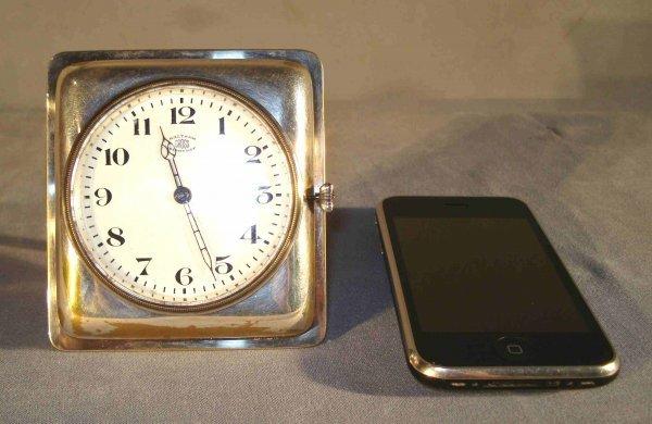 8: Easel Form Silver Desk Watch