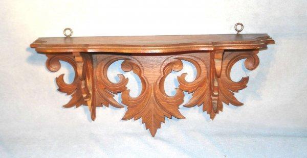 14: Carved Walnut Clock Shelf