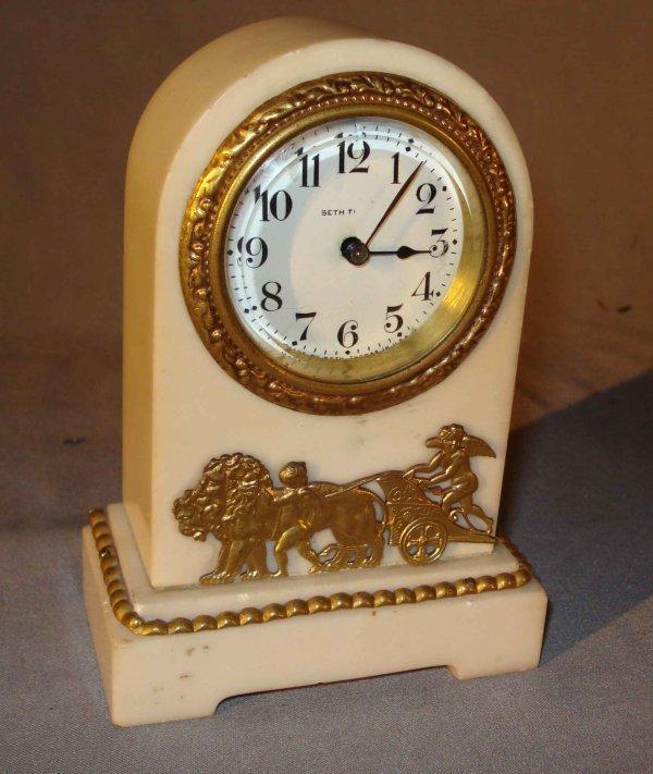 11A: White Marble Desk Clock