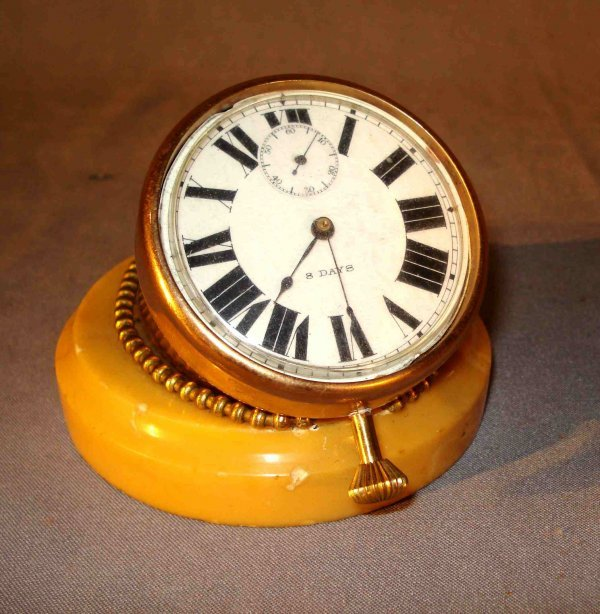 11: Brass and Marble Desk Clock