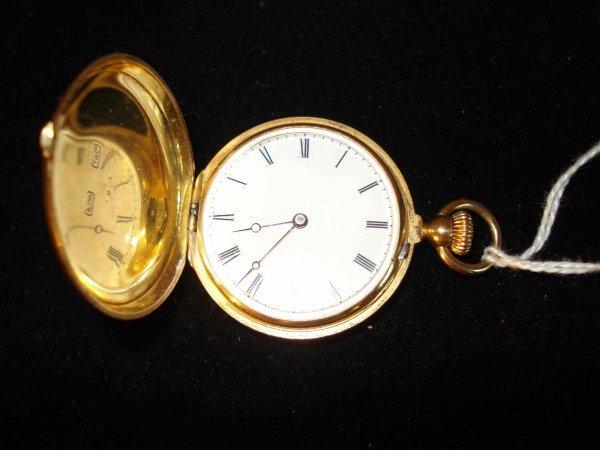 40C: A Tiffany 14K ladies Hunting cased watch