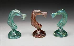 FENTON IRIDESCENT CARNIVAL GLASS FISH