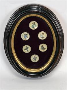 6 MINI HUMMEL PLATES FRAMED FOR DISPLAY 71 - 76