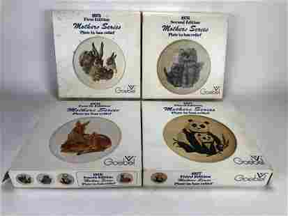 FOUR HUMMEL MOTHER'S SERIES COLLECTIBLE PLATES