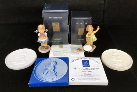 HUMMEL COLLECTOR'S CLUB ITEMS IN BOXES