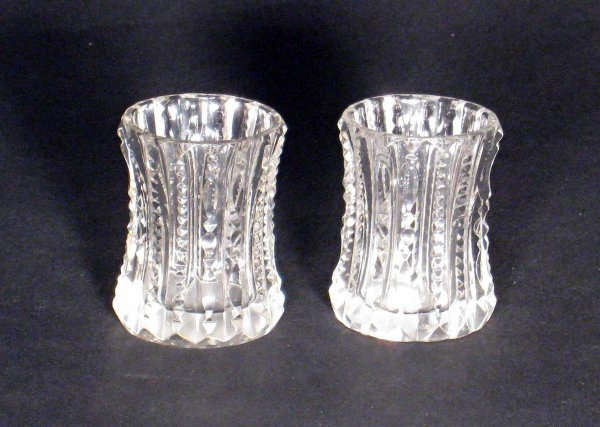 9: Cut glass sthot glasses