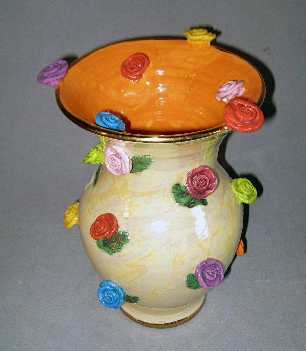 11: Art  Vase with flowers signed