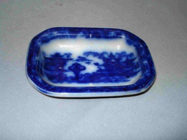 12: Flow Blue Dish