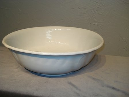 "23: 14 1/2"" Ironstone bowl"