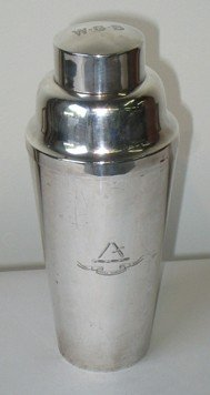 191: Sterling Silver Cocktail Shaker