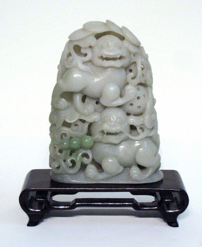 9: White Jade Foo Dogs