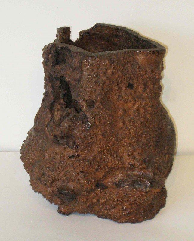 12: Oriental Burlwood Vase