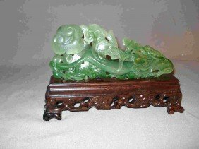 11A: Carved spinach jade