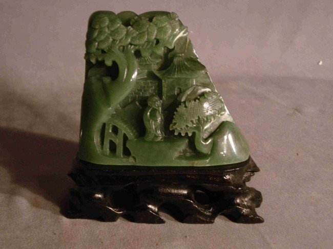 11C: Spinach jade carving