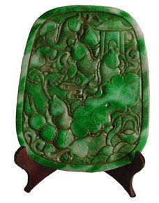 17C: Spinach jade medallion