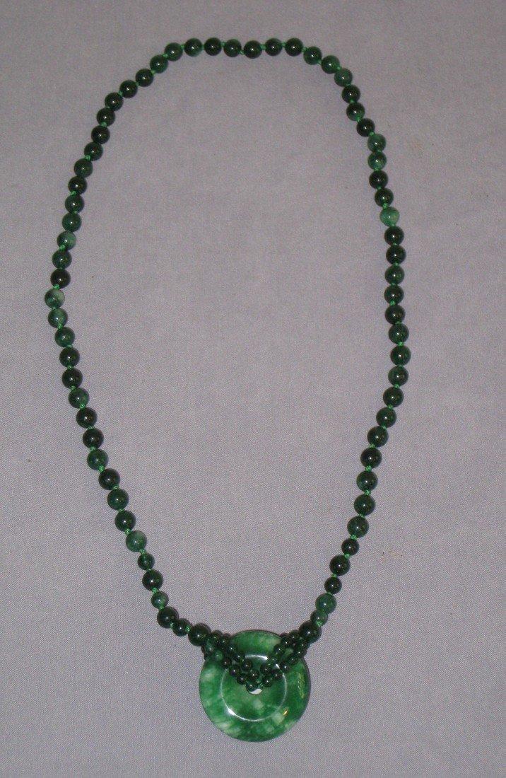 12: Spinach Jade Necklace