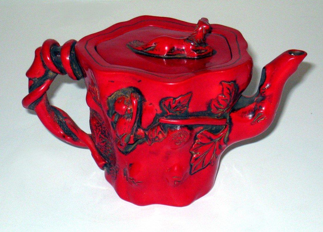 13: Red Lacquer Tea Pot