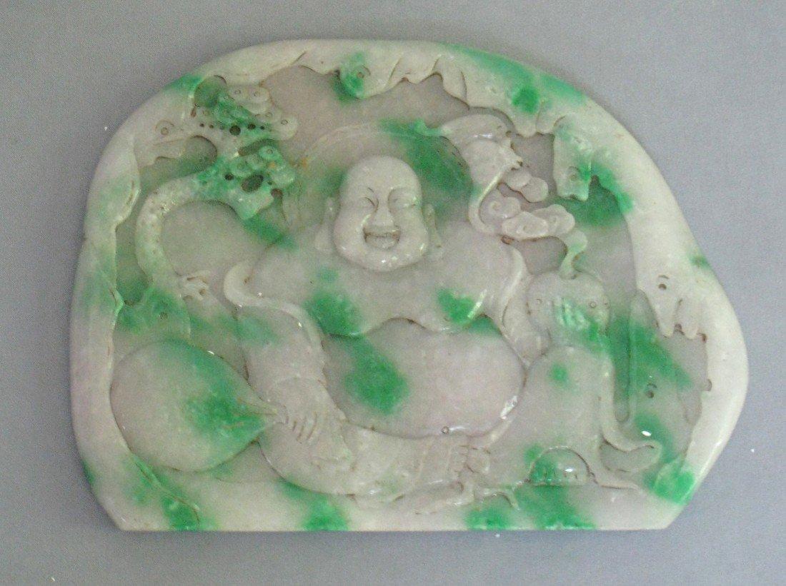 15: Buddha 19 Century White Jade