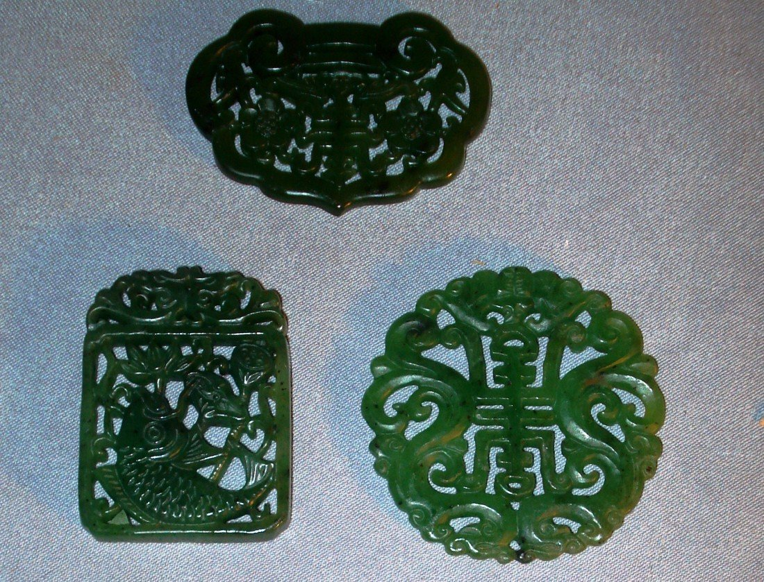 18: Spinach Jade Carved Pendants