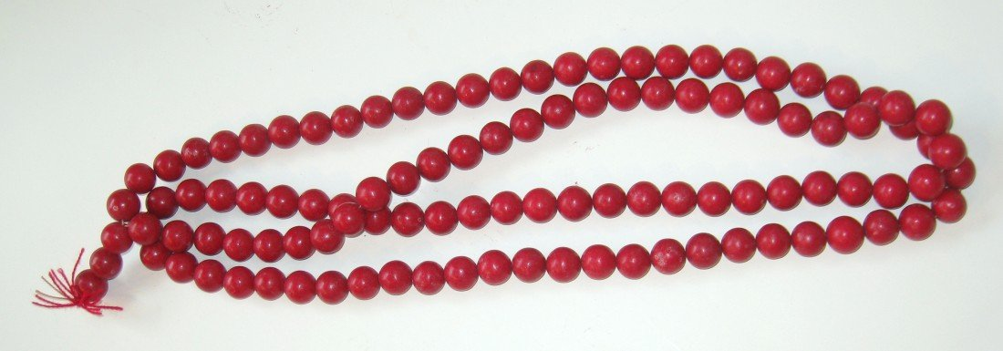 1: Coral Bead Necklace