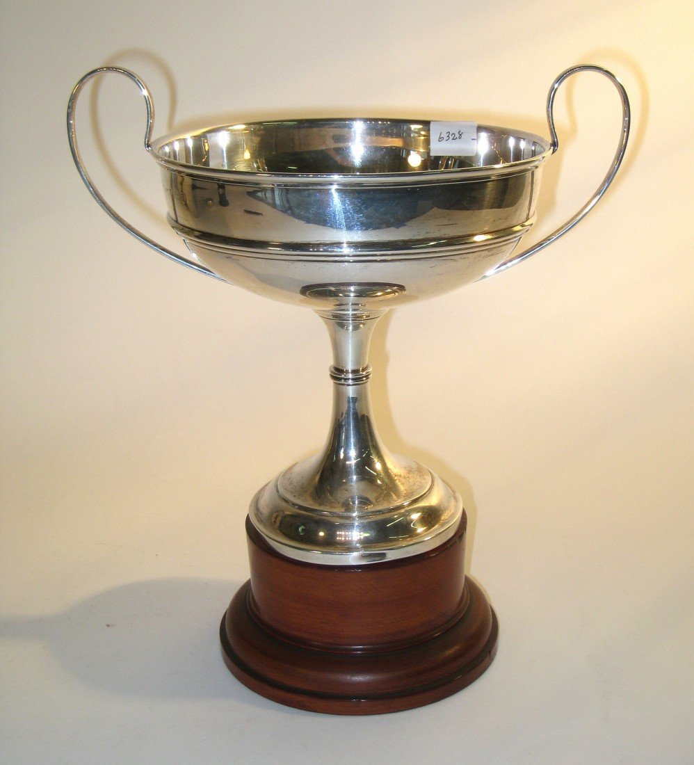 257: Sterling Weighted Loving Cup And Base