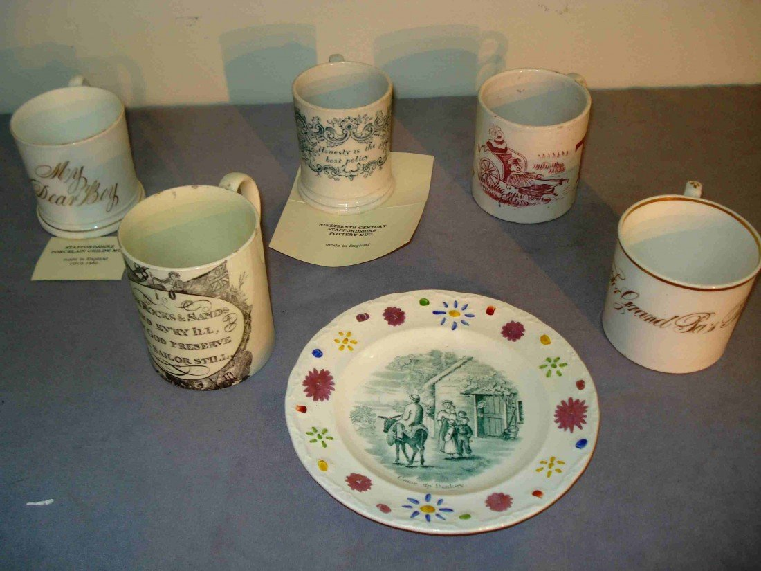 240B: Six Staffordshire items