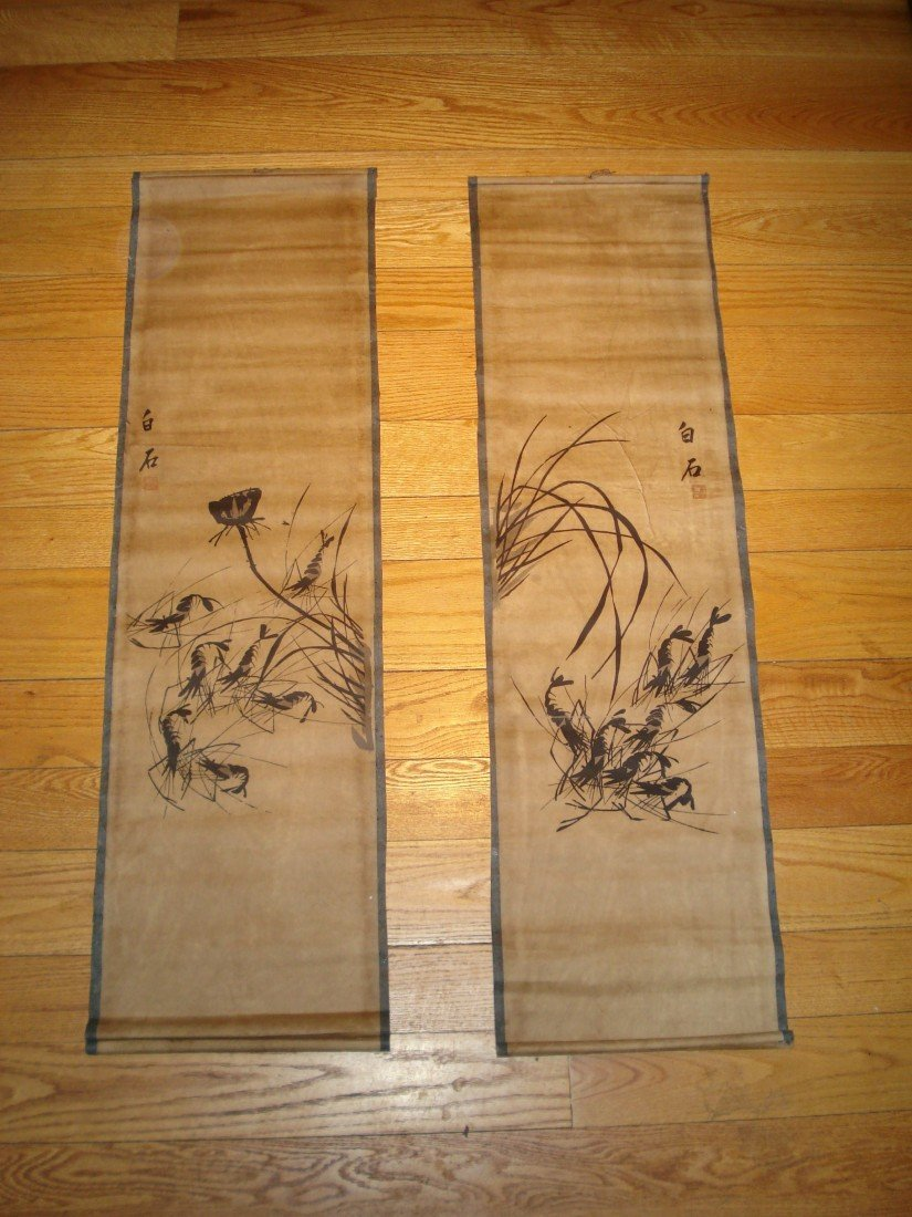 15: A Pair Of Chinese Scrolls.