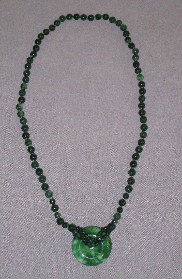 7: Spinach Jade Necklace