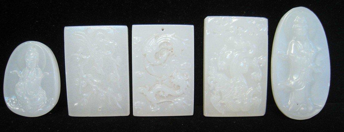 16: Five Pieces: Jade Pendants