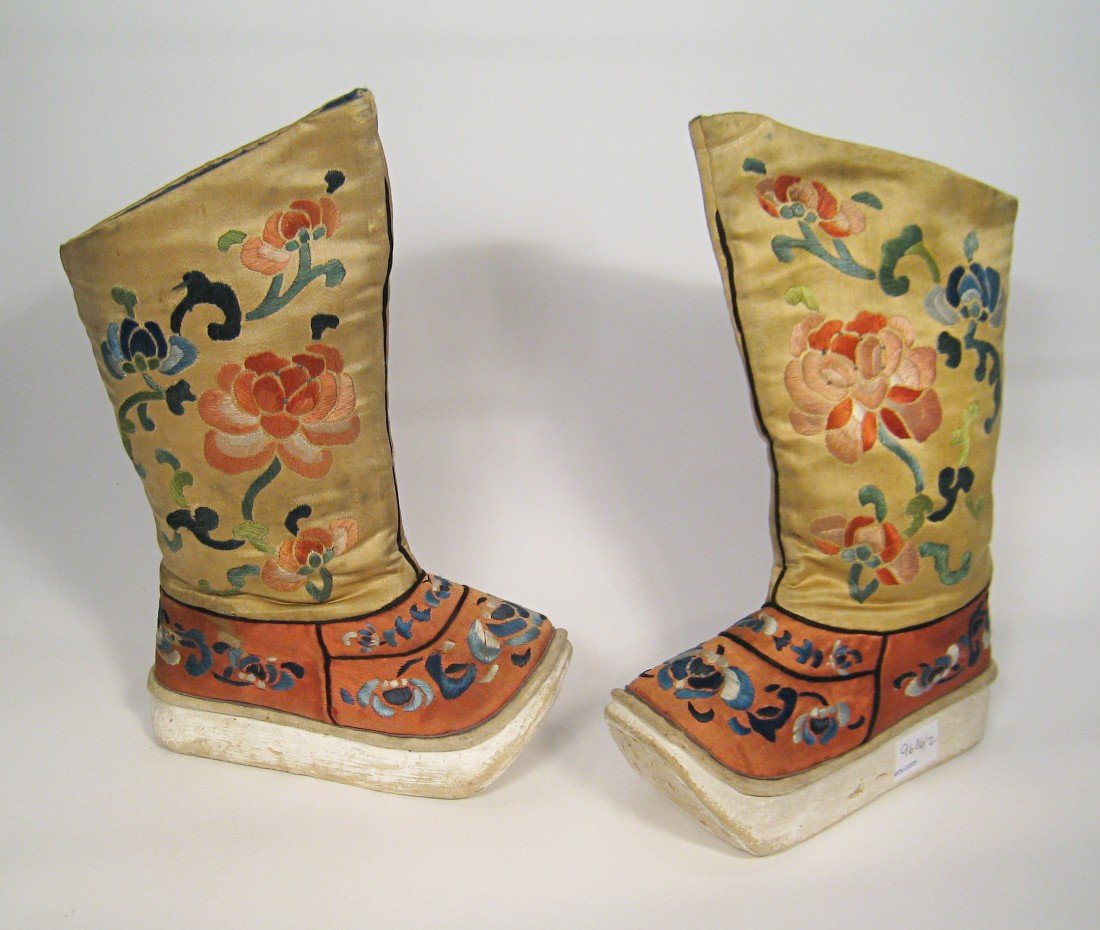 50: Pair Of Embroidered Boots.