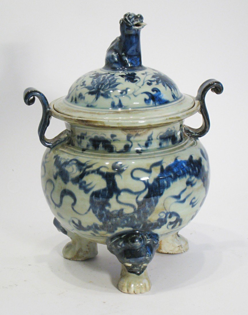 161: Antique Porcelain Incense Burner