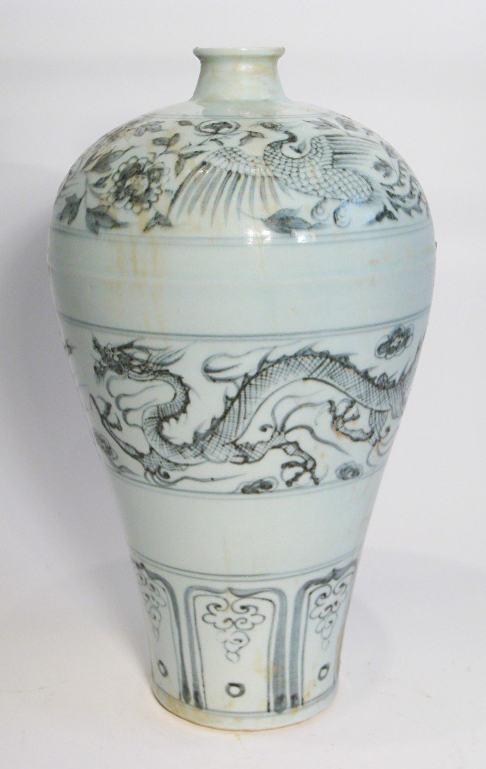 173: Porcelain Meiping With Ming Style Dragon
