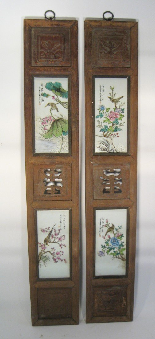 182: Pair Of Porcelain Panels