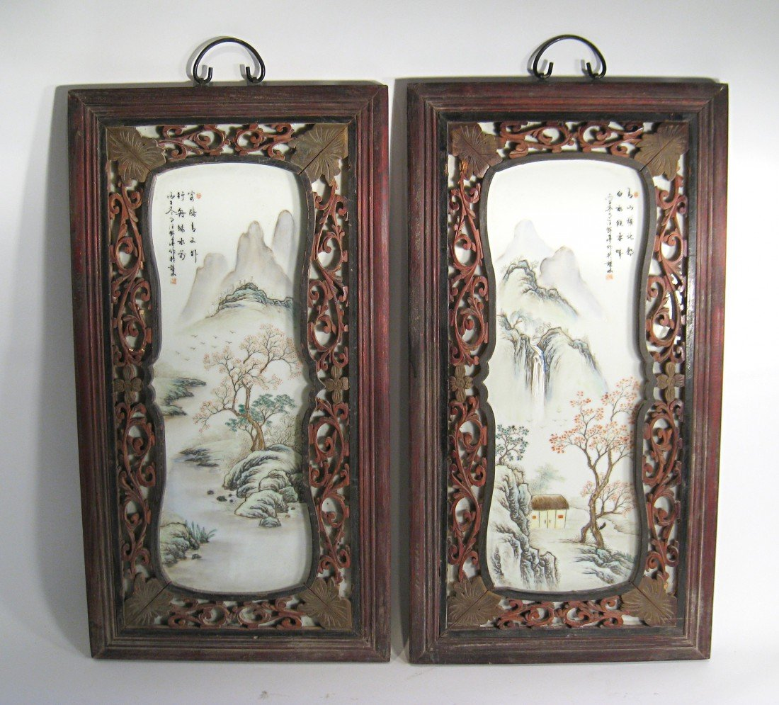 184: A Pair Of Hanging Panels