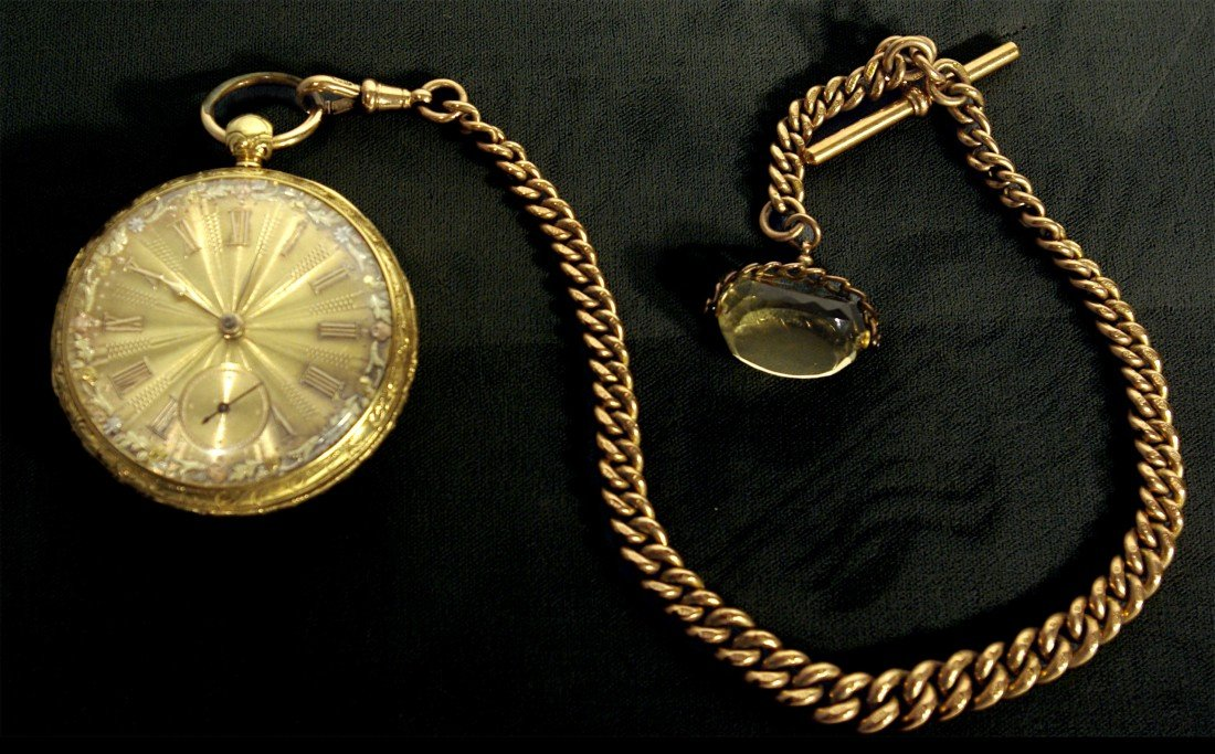 395A: Gold Watch, Chain and Fob