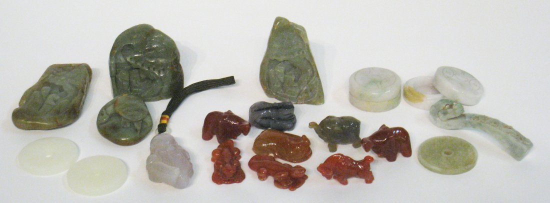 65: Assorted Jade And Hardstone Items