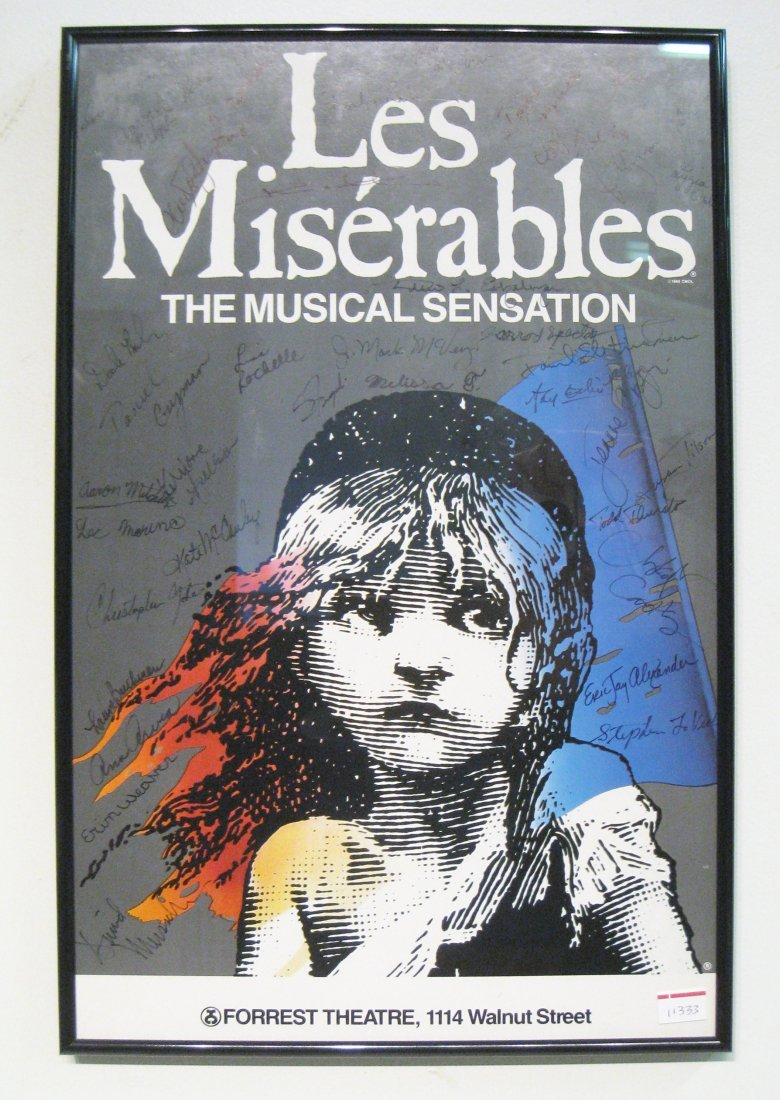 270: Les Miserables Poster Signed By The Cast
