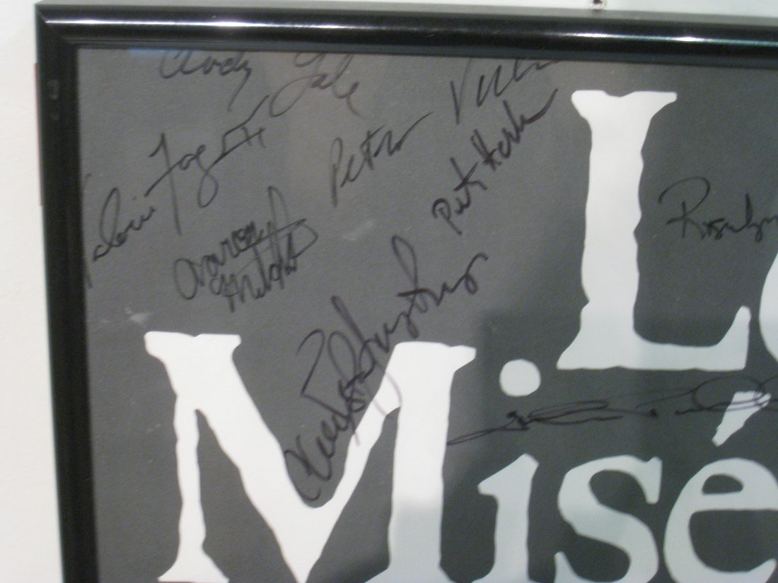 270: Les Miserables Poster Signed By The Cast - 5