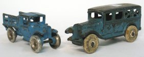 Two Cast Iron Toy Vehicles