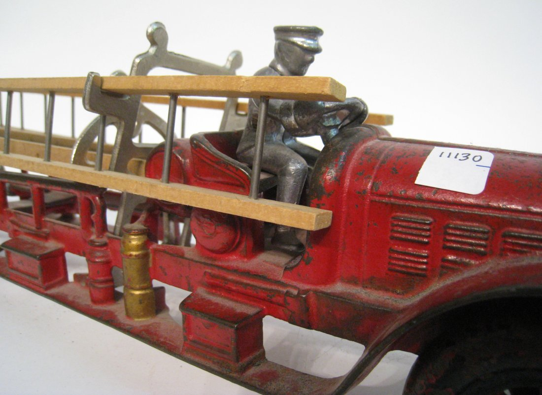 66: Cast Iron And Painted Fire Truck - 2
