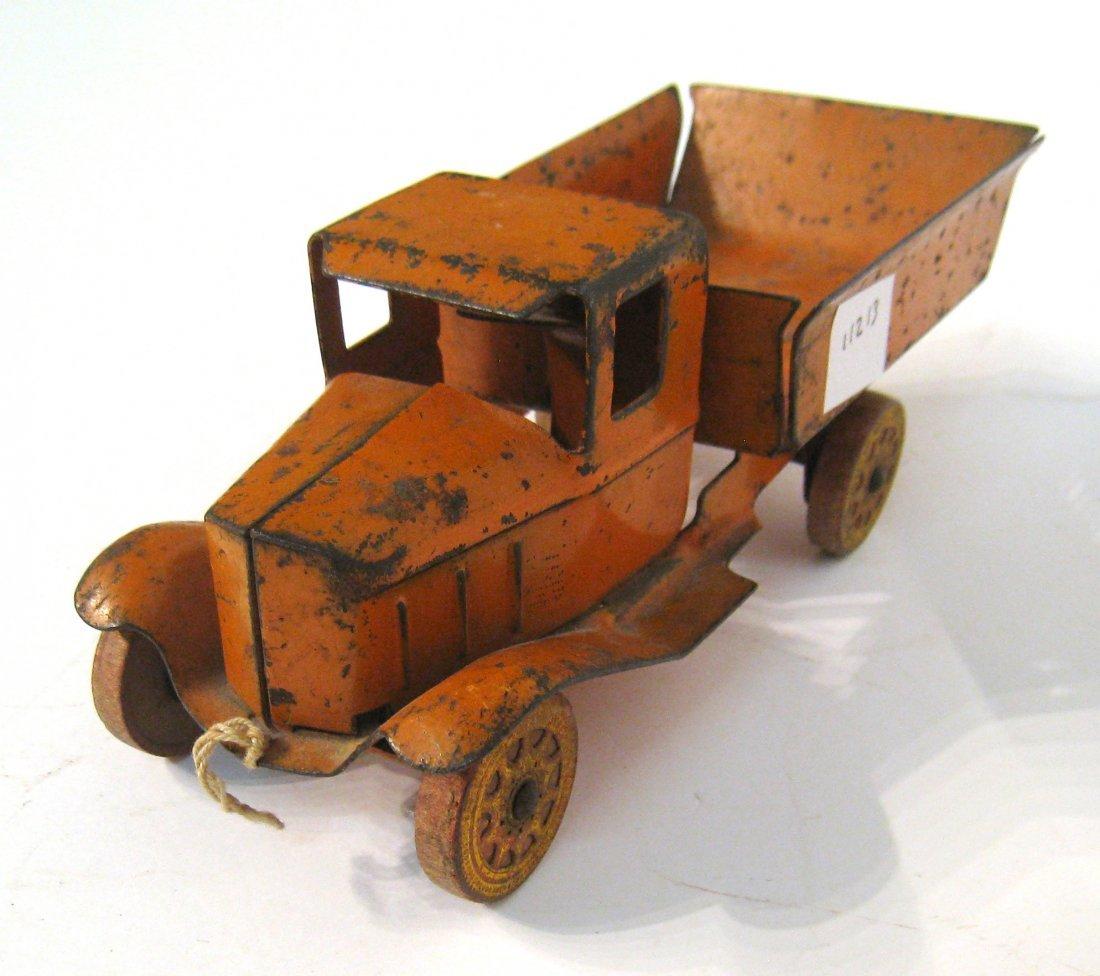 80: Orange Dump Truck